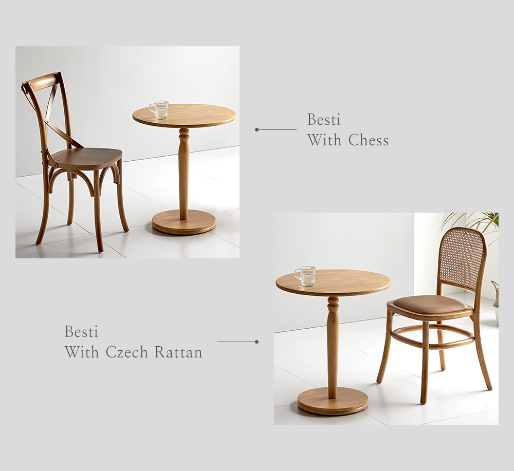 다른 매력을 가진 두 컬러의 테이블 우리집과 어울리는 색은 어떤 색상일까요?