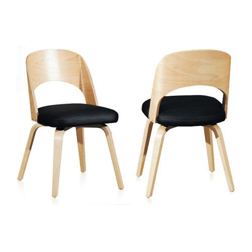 AF235 라이너의자 / 카페가구 인테리어의자 1인의자 목재의자 가죽 ...