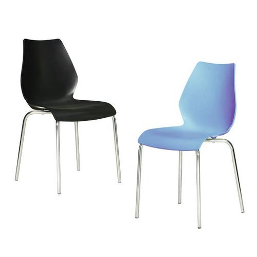 AC099 도블 / 7가지색상 예쁜식당의자 사출 플라스틱 1인용 디자인 ...