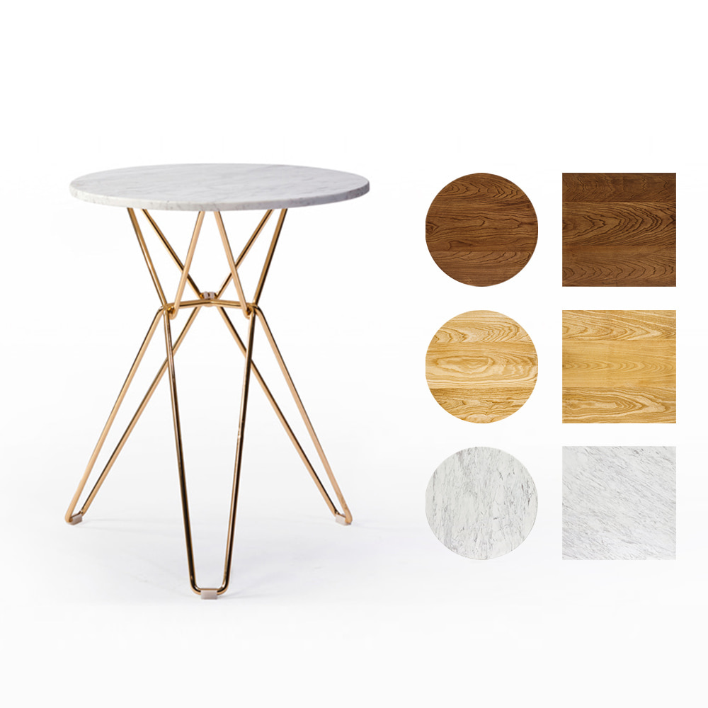 GD019  W60*D60*H72  헤라테이블 / 카페테이블 업소용테이블 식탁테이블 천연대리석 원목 스테인레스 철제테이블 인더스트리얼테이블 커피숍 식당 휴게소 매장테이블 | 피카소가구