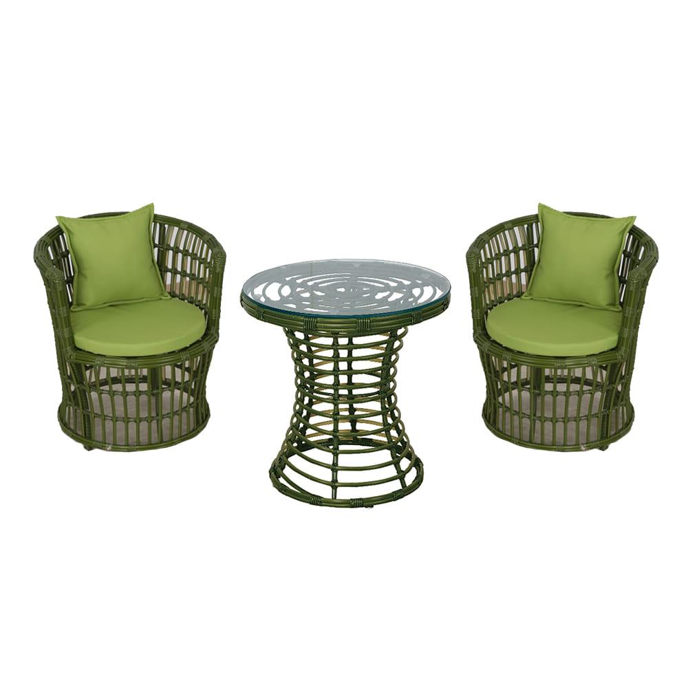 EA009 W60*D60*H62  820 2인세트 / 정원가구 테라스가구 카페 정원 편의점 라탄테이블세트 | 피카소가구