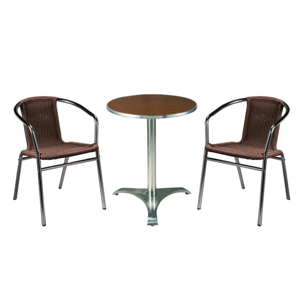 EA017 W60*D60*H70  509 2인세트 / 야외용가구 테라스가구 라탄테이블세트 카페 학교 공원 아파트 | 피카소가구