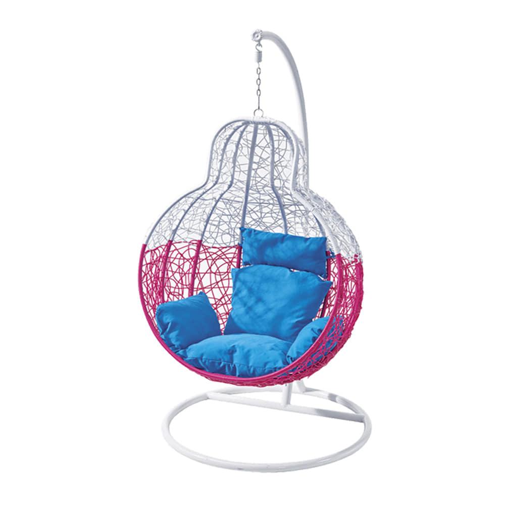 EA057  W101*H199  DS1006그네 / 야외용가구 철제 등나무의자 라탄그네의자 라탄의자 실내 스튜디오 매장 야외용그네 정원그네 그네의자 흔들그네 | 피카소가구