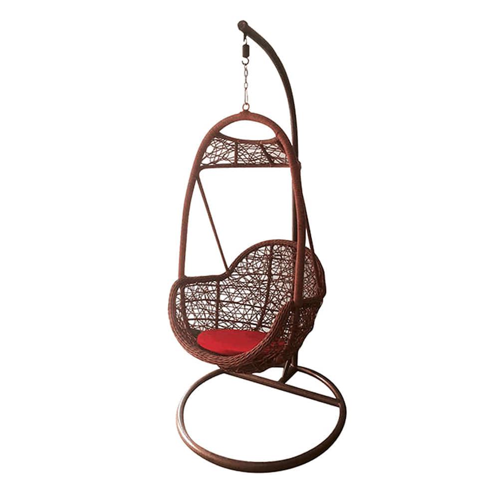 EA060  W75*H197  DS1003그네 / 야외용가구 철제 등나무의자 라탄그네의자 라탄의자 실내 스튜디오 매장 야외용그네 정원그네 그네의자 흔들그네 | 피카소가구