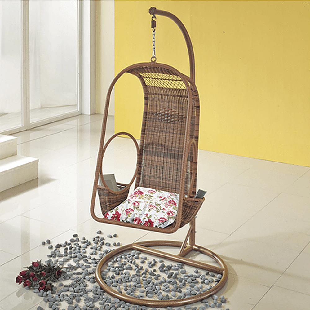 EA061  W66*H197  DS1002그네 / 아웃도어가구 철제 등나무의자 라탄그네의자 라탄의자 매장 정원 가든 야외용그네 정원그네 그네의자 흔들그네피카소가구