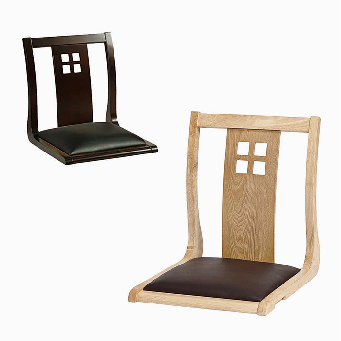 AJ126  좌식체어A / 업소용가구 식탁의자 목재의자 가죽의자 등받이의자 식당 거실 앉는의자 좌식의자 다리없는의자피카소가구