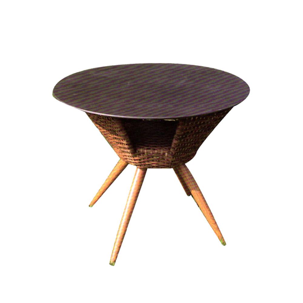 GD023  W90*D90*H75  블레드원형테이블 / 인테리어 디자인테이블 인테리어테이블 고급테이블 업소용 카페 식당 매장 라탄테이블 정원가구 야외테이블피카소가구