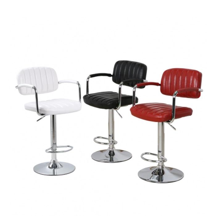 BD069  W46*D42*SH62~85*H94~107  248바텐 / 카페인테리어가구 바텐의자 높은의자 스틸 가죽바의자 스몰비어 까페 업소용 BAR 디자인바체어 | 피카소가구