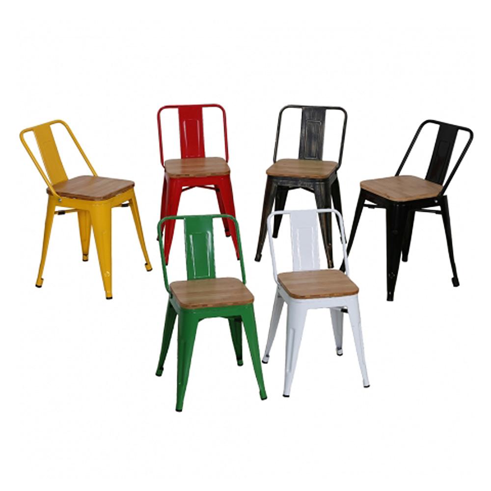 AJ148  W31*D31*SH45*H72  359체어 / 인테리어의자 카페의자 빈티지철제의자 목재 스틸체어 커피숍 식당 디자인식탁의자 | 피카소가구