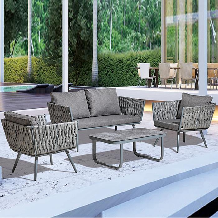 AK006  W100*D60*H41  2021소파 테이블세트 / 인테리어 디자인테이블 1인용소파 싱글소파  고급테이블 업소용 카페 식당 매장 라탄테이블 정원가구 야외테이블 소파테이블 2인용소파 의자테이블세트 | 피카소가구