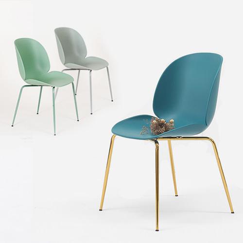 YGG042ㅣ골드의자 디자인의자 플라스틱의자ㅣAJ327 피카소가구피카소가구