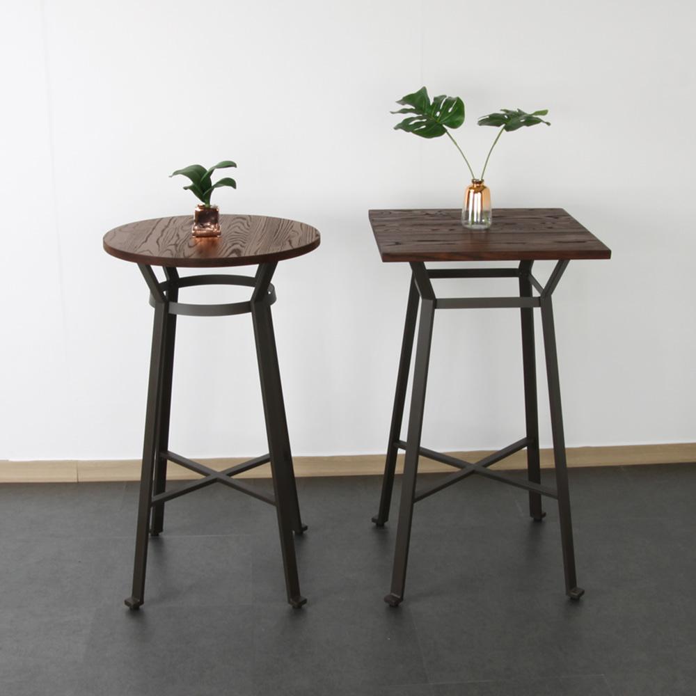 533-1빠테이블ㅣ철제 빈티지테이블 티테이블 카페가구 바테이블 디자인가구ㅣGD064 피카소가구피카소가구